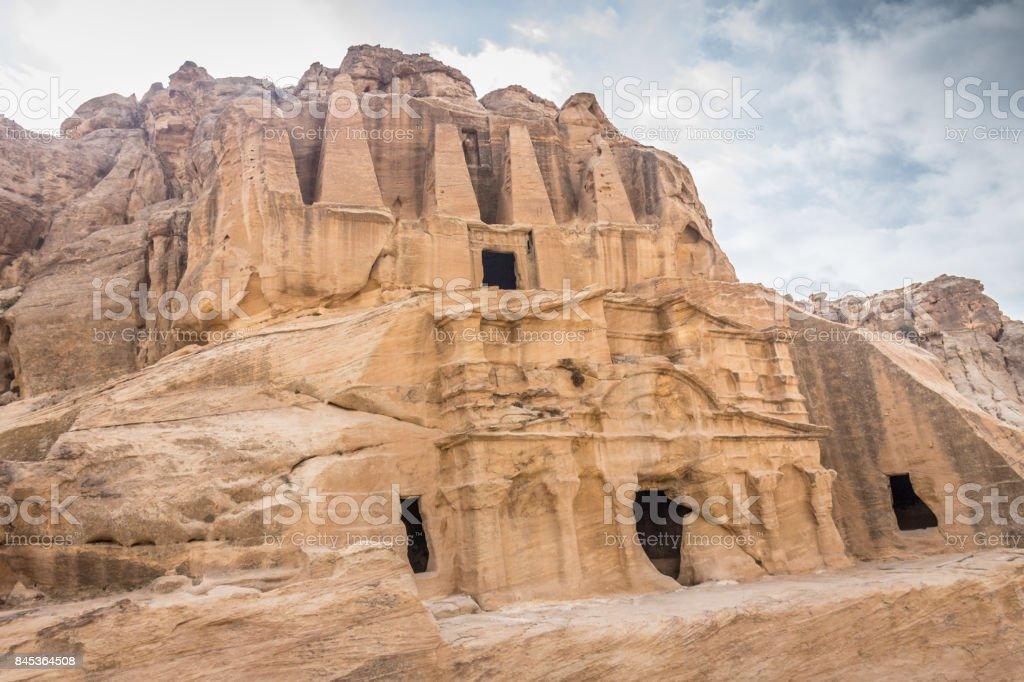Petra ruins stock photo
