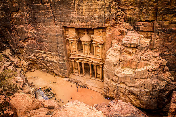 pétra – trésor jordanie - jordan photos et images de collection