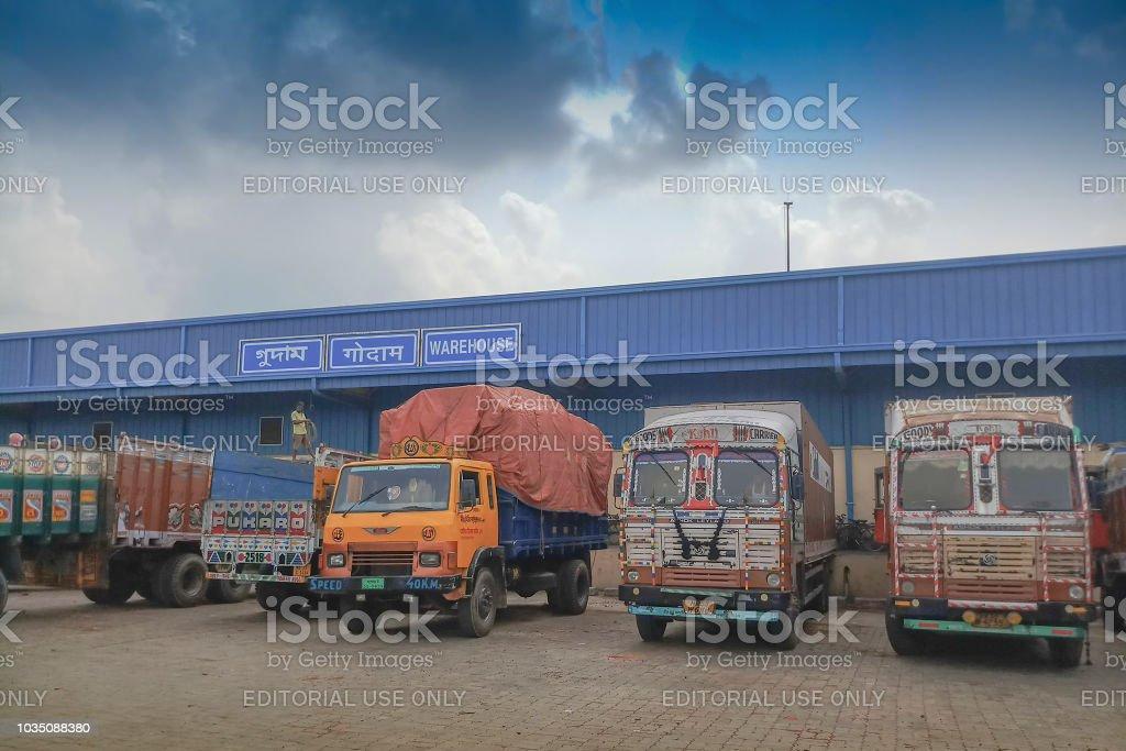Indian side of international border between India and Bangladesh ....