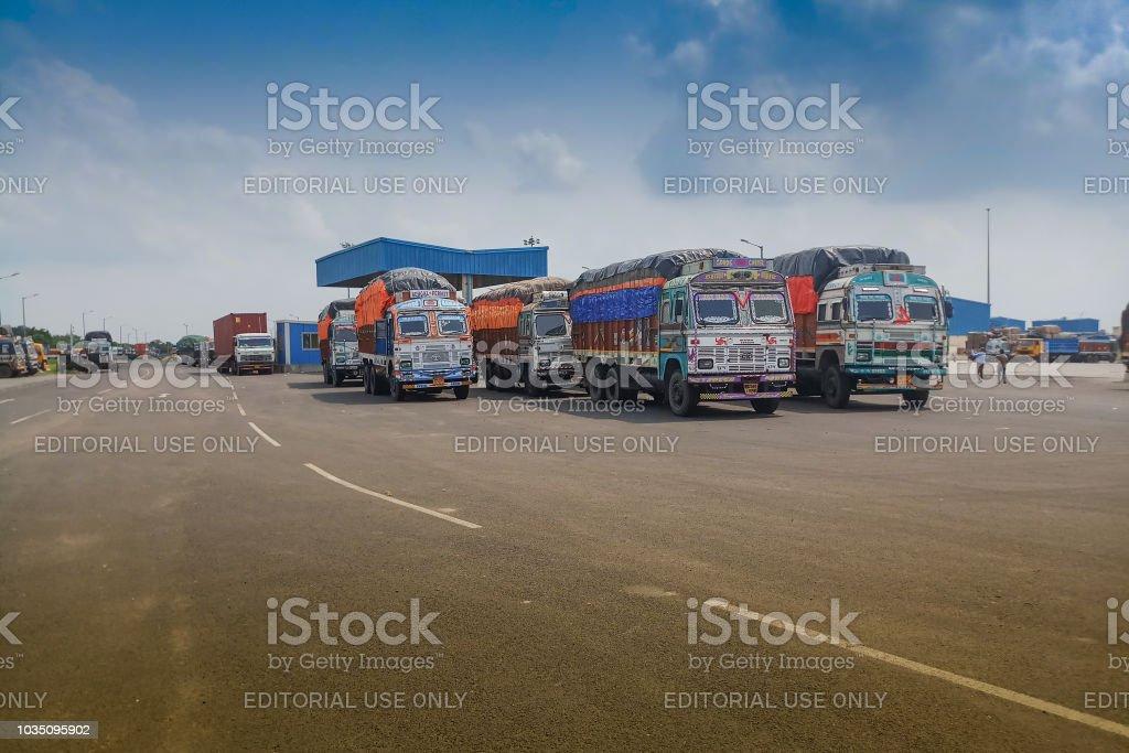 Petrapole Grenze - Indien-Bangladesh Handel international – Foto