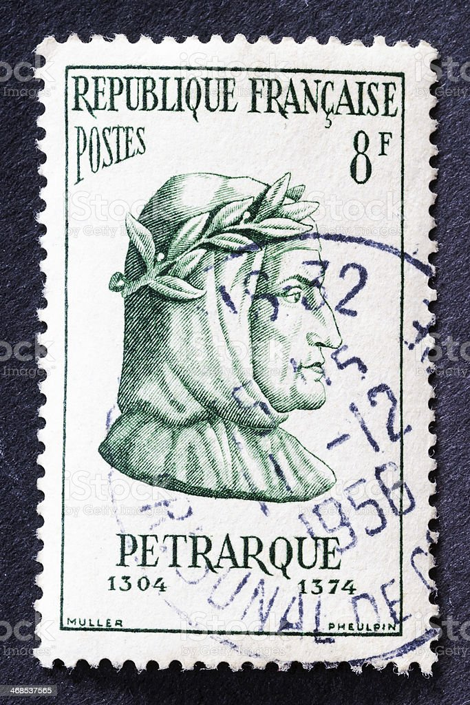 Petrarque Stamp stock photo
