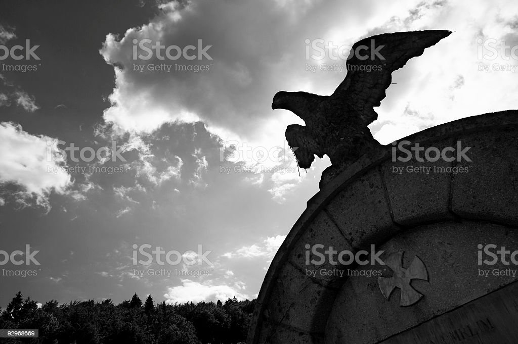 Petrified eagle III. royalty-free stock photo