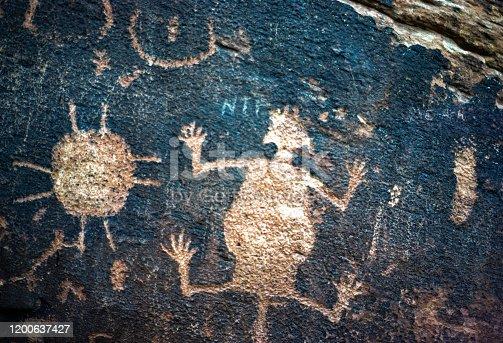 Petrified Forest National Park - Petroglyphs - 1978. Scanned from Kodachrome slide.