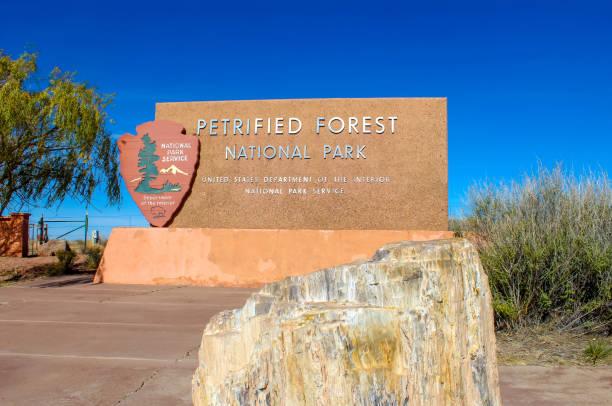 Petrified Forest National Park, Route 66 Arizona stock photo