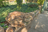 Petrified tree stump at Dutch Reformed Mother Church in Senekal