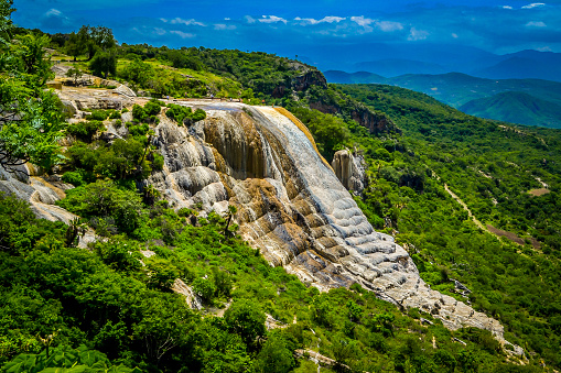 Petrified Waterfalls Hierve El Agua Stock Photo - Download Image Now