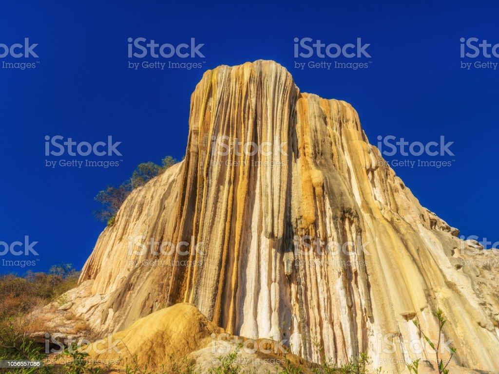 Petrified waterfalls, Hierve El Agua , Oaxaca, Mexico stock photo