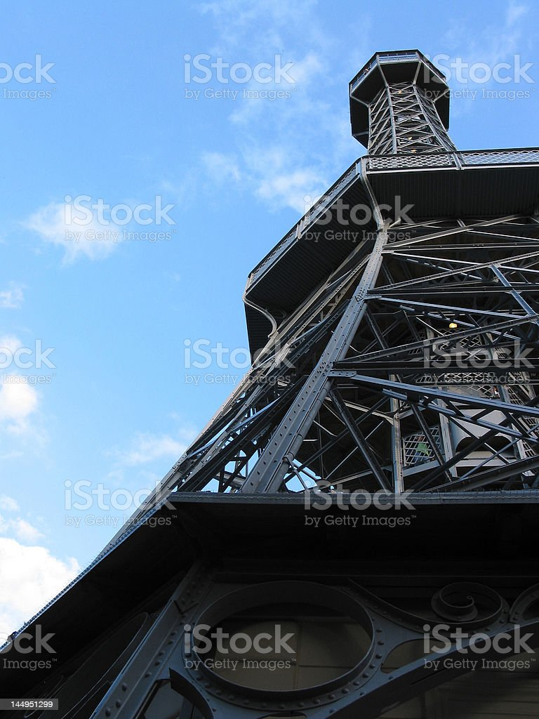 Petrin tower in Prague stock photo