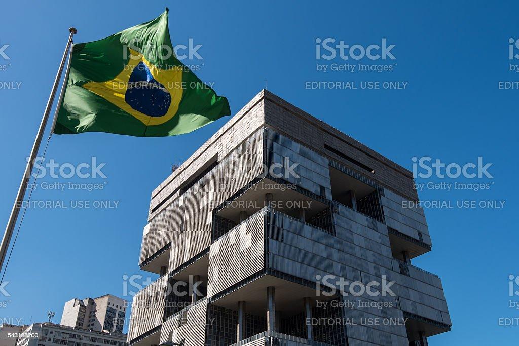 Petrobras Building in Rio de Janeiro stock photo