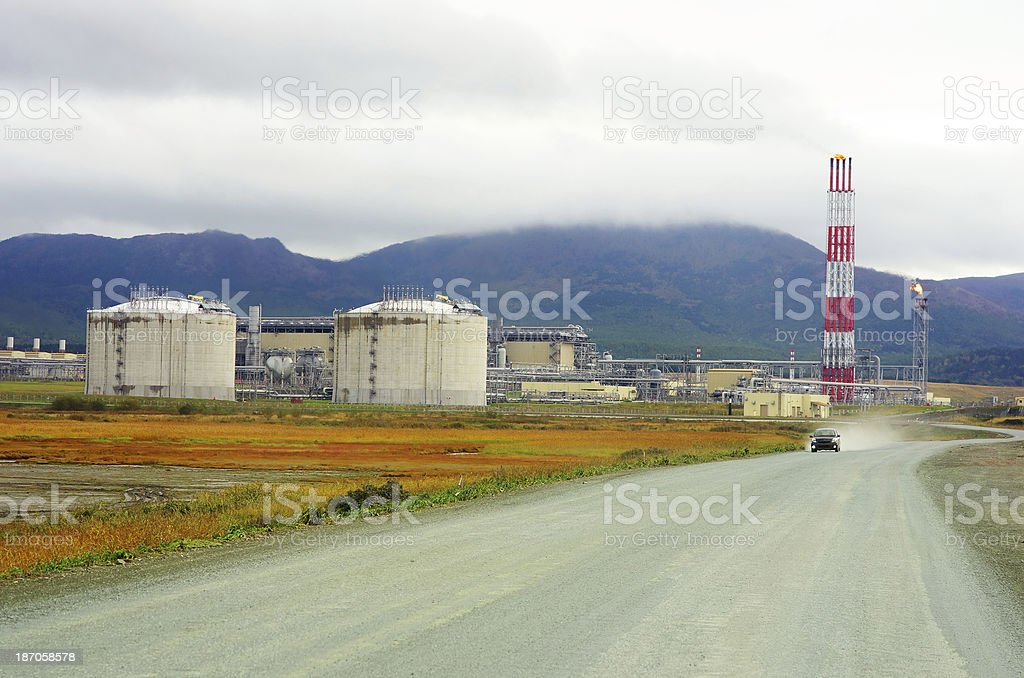 Petrochemical factory royalty-free stock photo