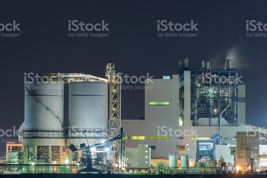 petrochemical factory stock photo