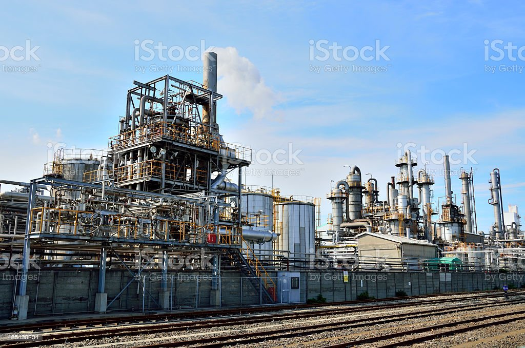 petrochemical industrial plant, Keihin Industrial Area, Kawasaki, Japan stock photo