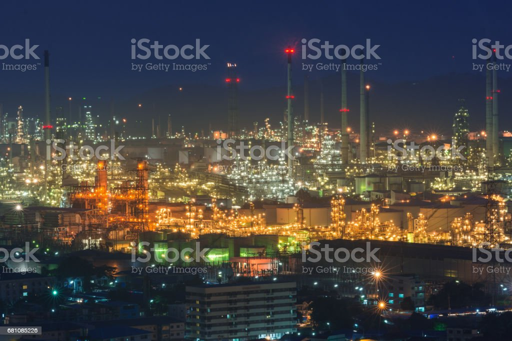 petrochemical industrial plant royalty-free stock photo