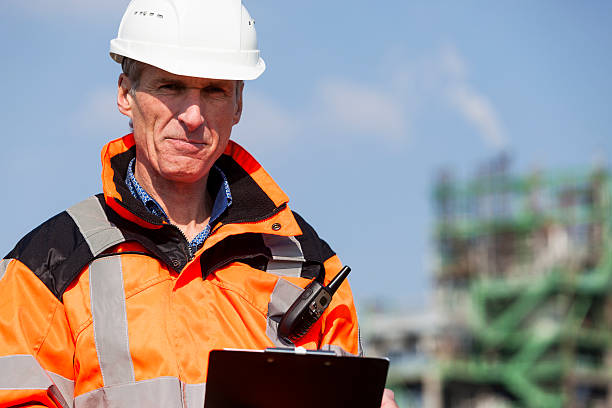 Petrochemical industry inspector foto