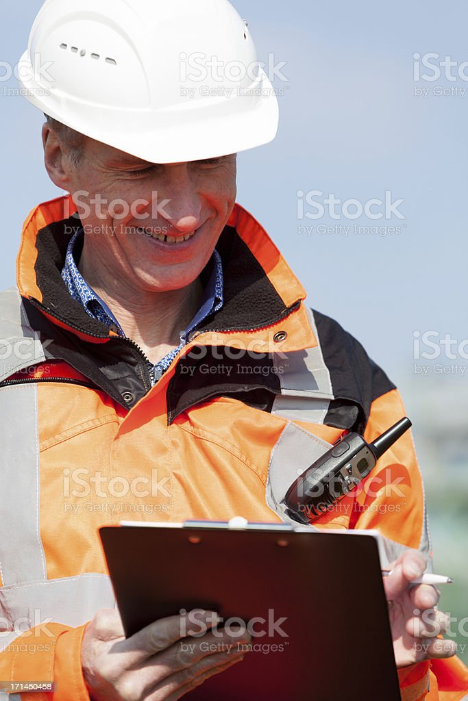 Petrochemical industry inspector stock photo