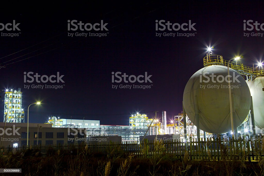 Petrochemical industry stock photo