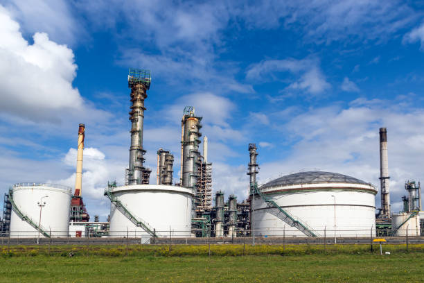 Petrochemical industry plant stock photo