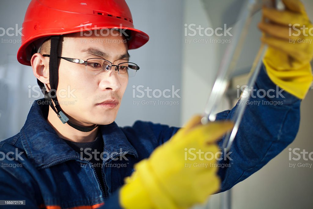 petrochemical industry worker royalty-free stock photo