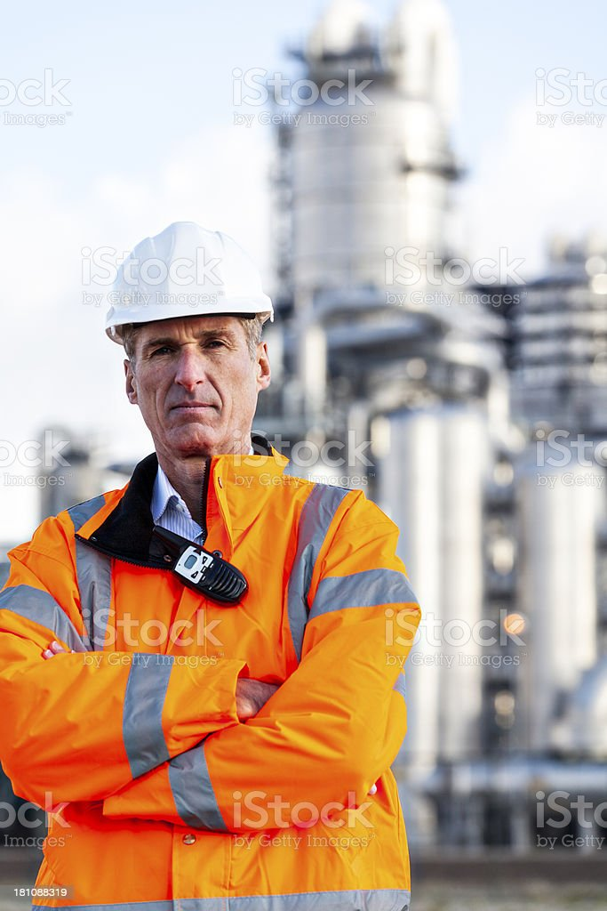 Petrochemical inspector royalty-free stock photo