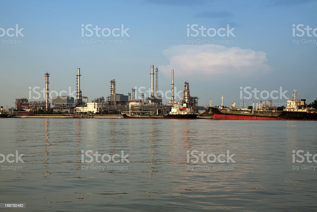 petrochemical oil refinery factory pipeline at  Bangkok Thailand royalty-free stock photo