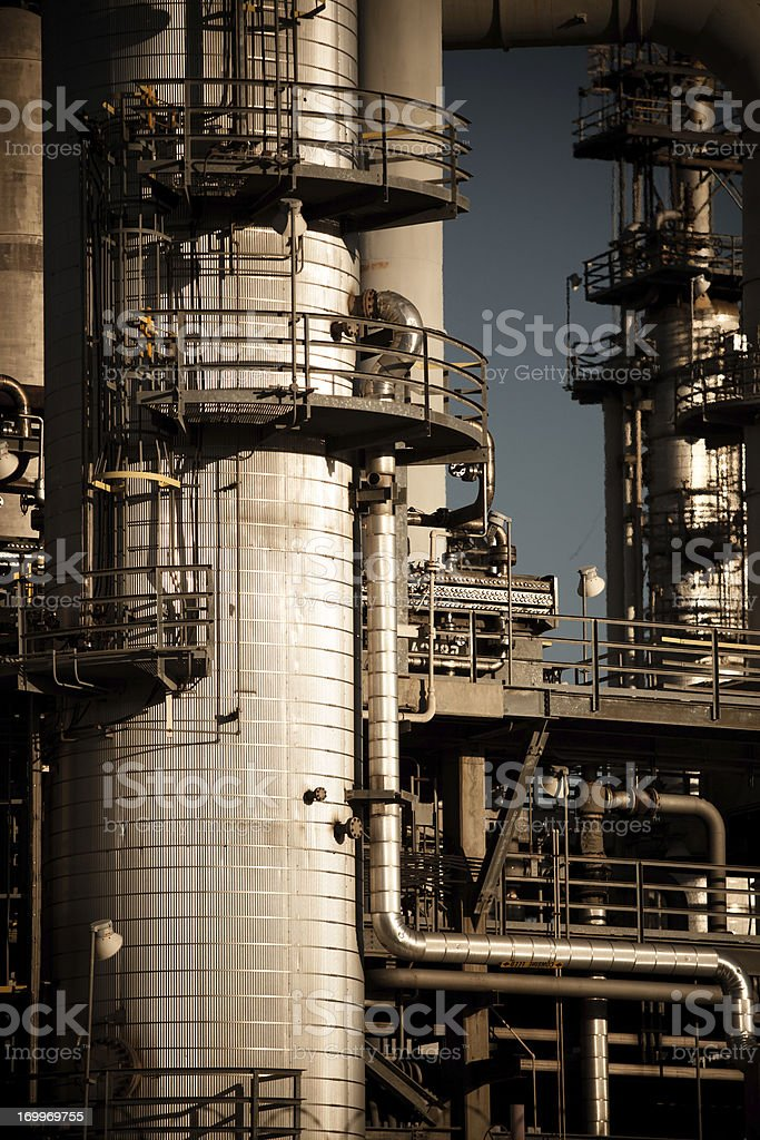 Petrochemical Plant Detail royalty-free stock photo
