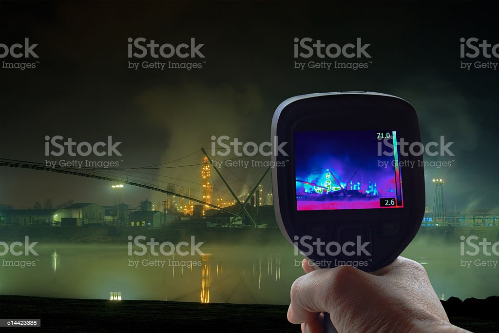 Petrochemical Plant Infrared stock photo