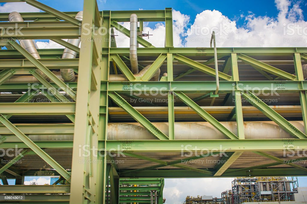 petrochemical plant  tower and oil refinery industry at daytime royalty-free stock photo