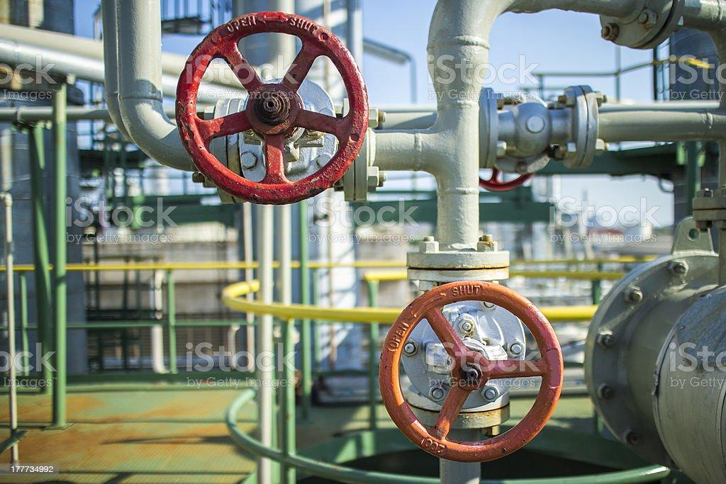 Petrochemical Spheres Tank royalty-free stock photo