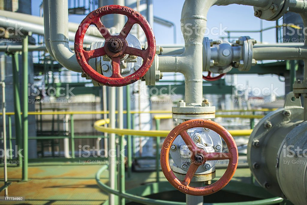 Petrochemical Spheres Tank stock photo