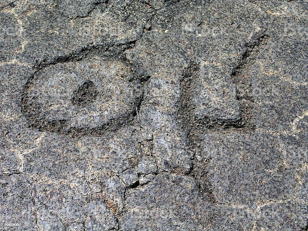 Petroglyph 2 royalty-free stock photo