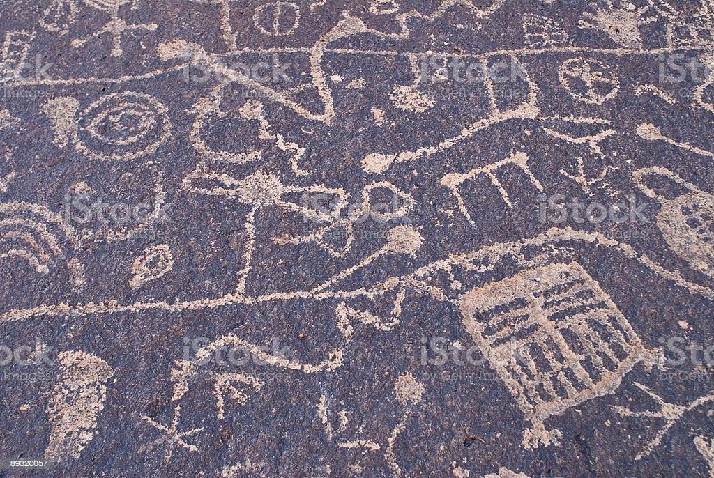Petroglyph Background #2 royalty-free stock photo