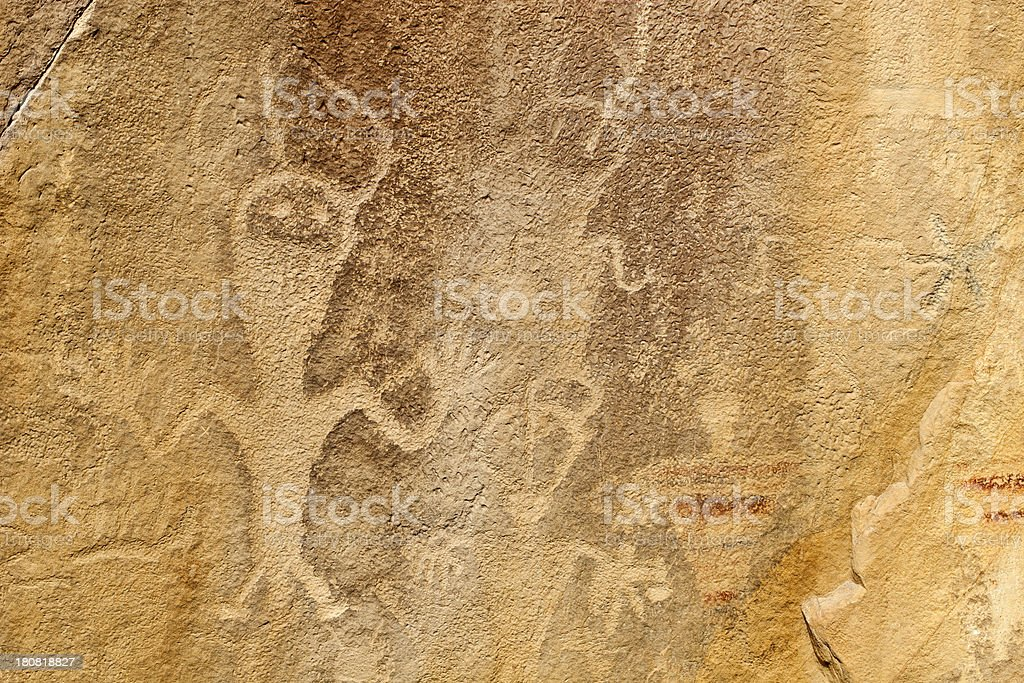 Petroglyph From Dinosaur National Monument In Utah, USA royalty-free stock photo