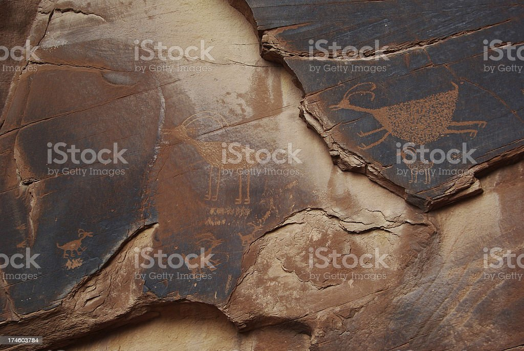 petroglyph in Monument Valley royalty-free stock photo