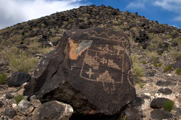 Petroglyph in Rinconada Canyon, Albuquerque, New Mexico stock photo