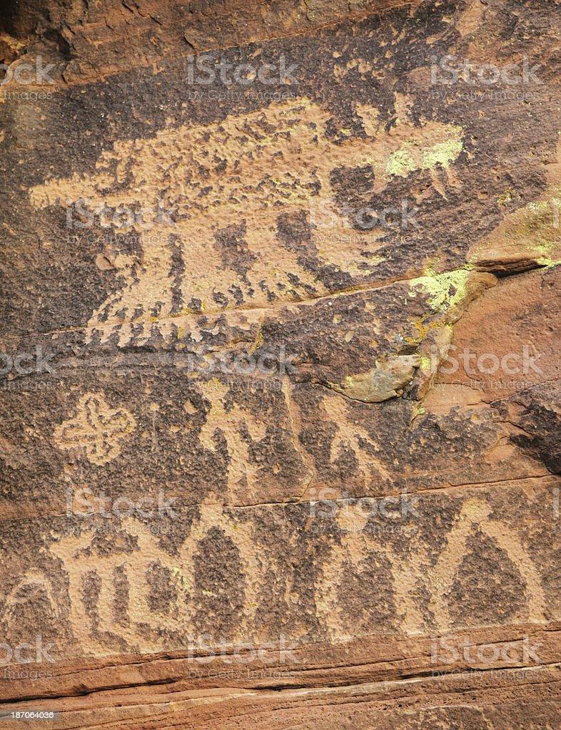 Petroglyph Native American Indian Art royalty-free stock photo