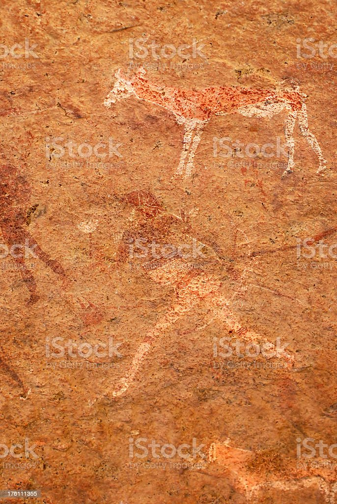 petroglyph of the White Lady royalty-free stock photo