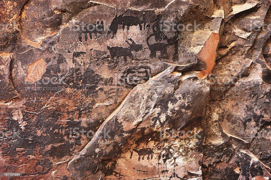 Petroglyph Pictograph Anasazi Pre-Columbian Art royalty-free stock photo