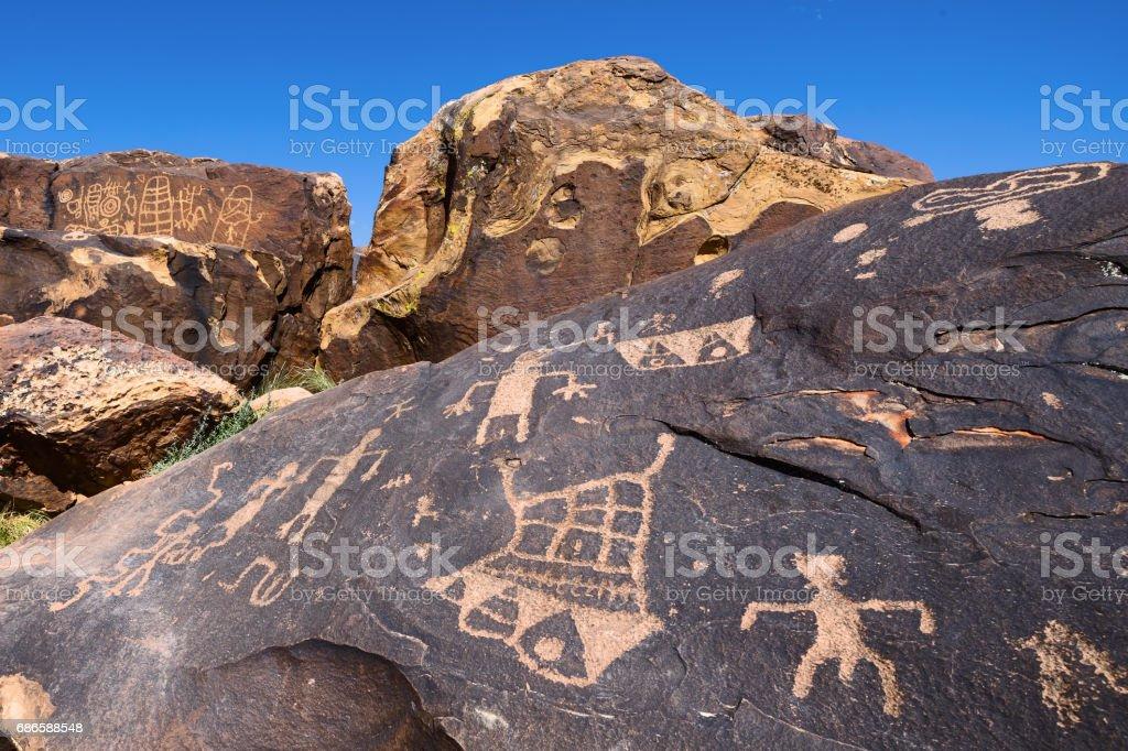 Petroglyph foto stock royalty-free