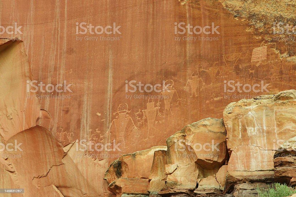 Petroglyphes royalty-free stock photo