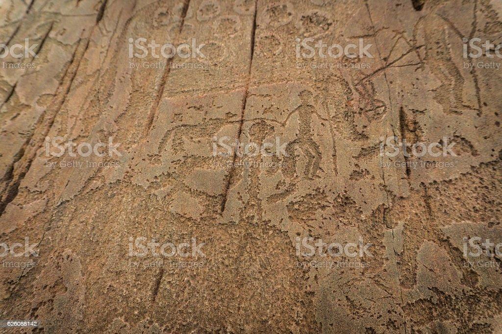 petroglyphs, altai, Kalbak-Tash stock photo