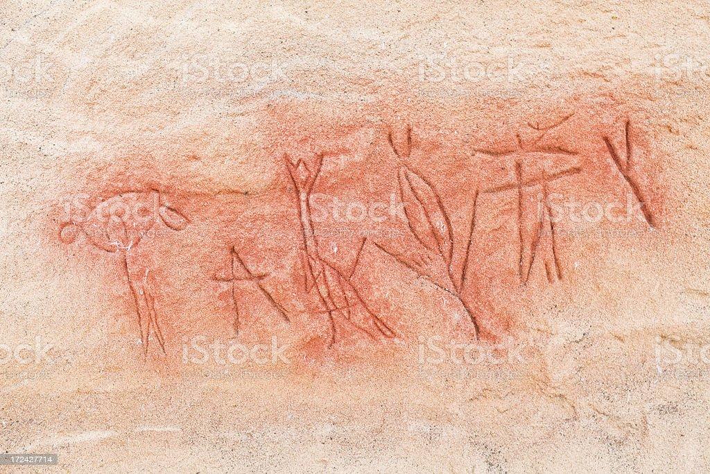 Petroglyphs at Pompeys Pillar National Monument royalty-free stock photo