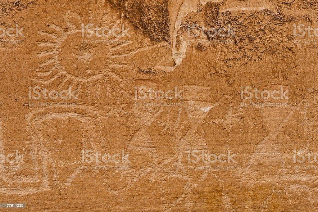 Petroglyphs, Escalante RIver Canyon, Utah stock photo
