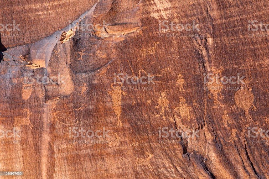 Petroglyphs III stock photo