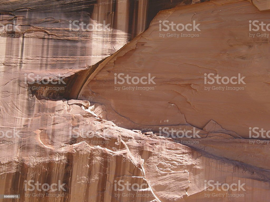 Felszeichnungen in Canyon de Chelly National Monument-Arizona Lizenzfreies stock-foto