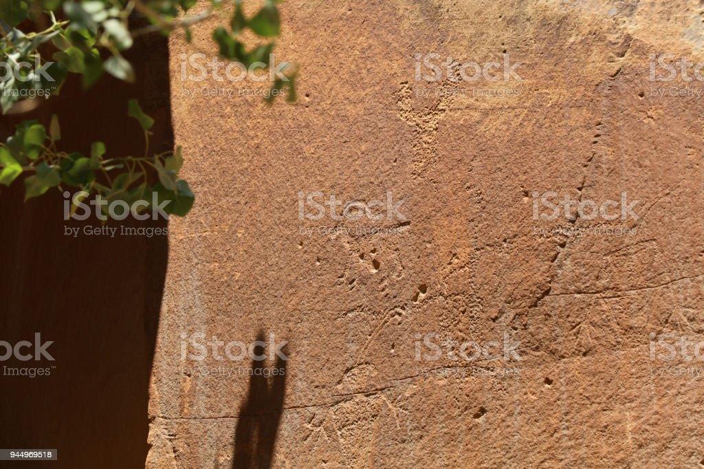 Petroglyphs in Capitol Reef National Park. Utah. USA stock photo