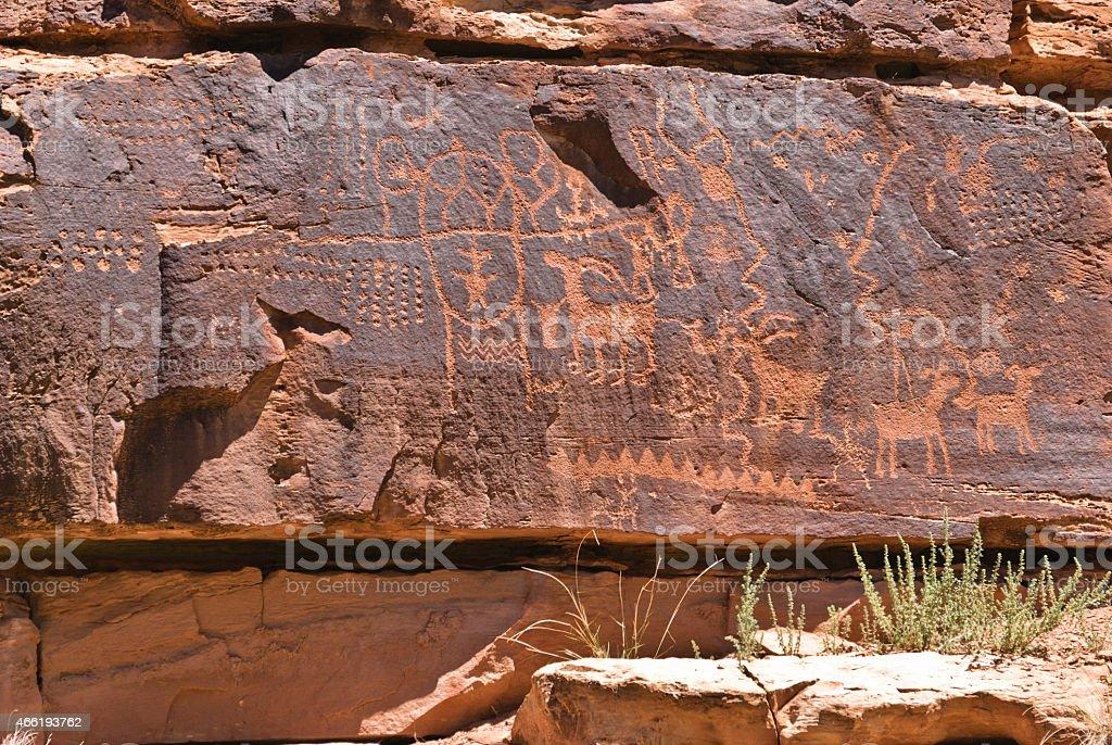 Petroglyphs in Nine Mile Canyon stock photo
