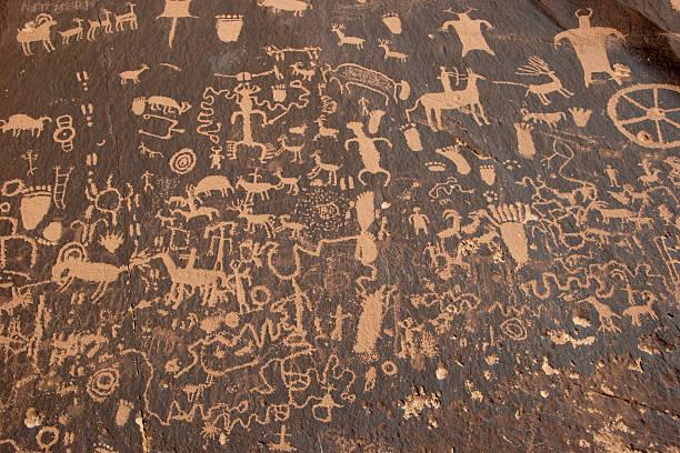 Petroglyphs in Utah stock photo