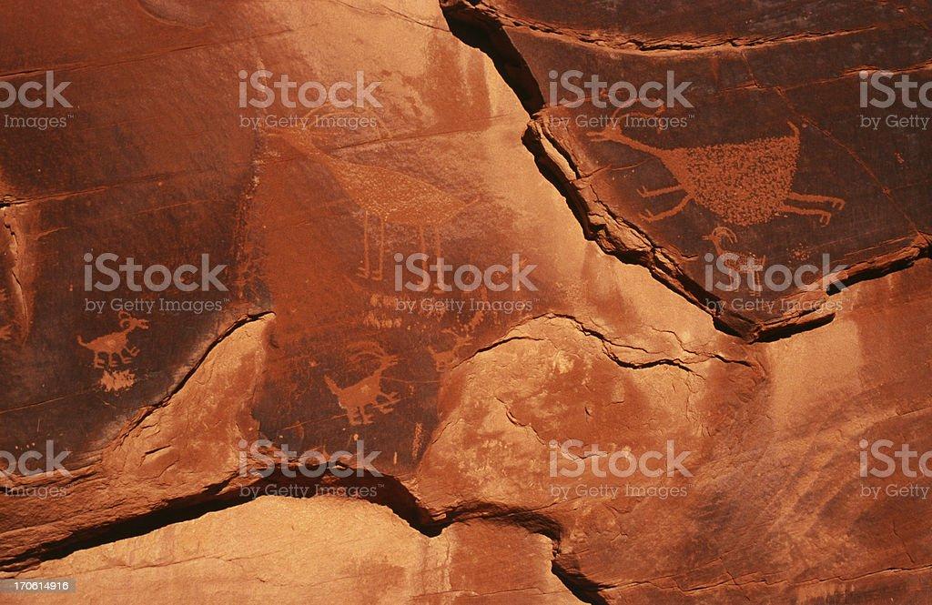 Petroglyphs, Monument Valley, Arizona royalty-free stock photo