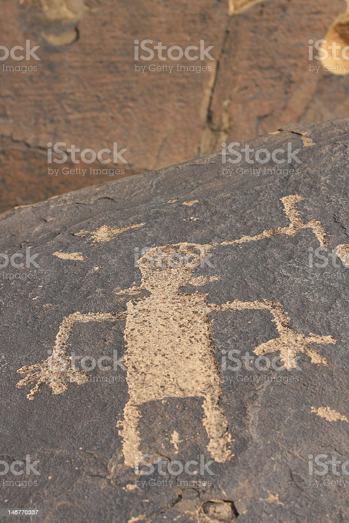 Petroglyphs of Anasazi Canyon royalty-free stock photo