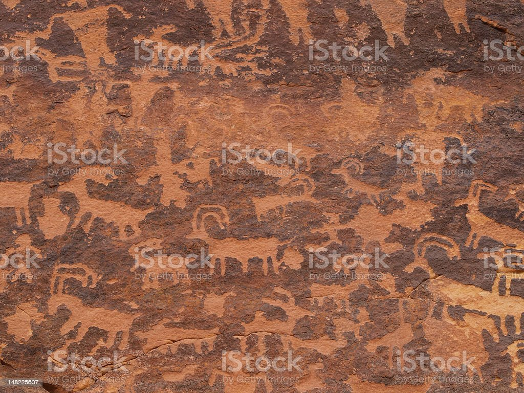 Petroglyphs of Northern Arizona stock photo